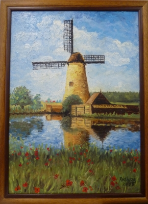 Olejomalby a jiné techniky - Větrný mlýn - vetrny-mlyn.jpg